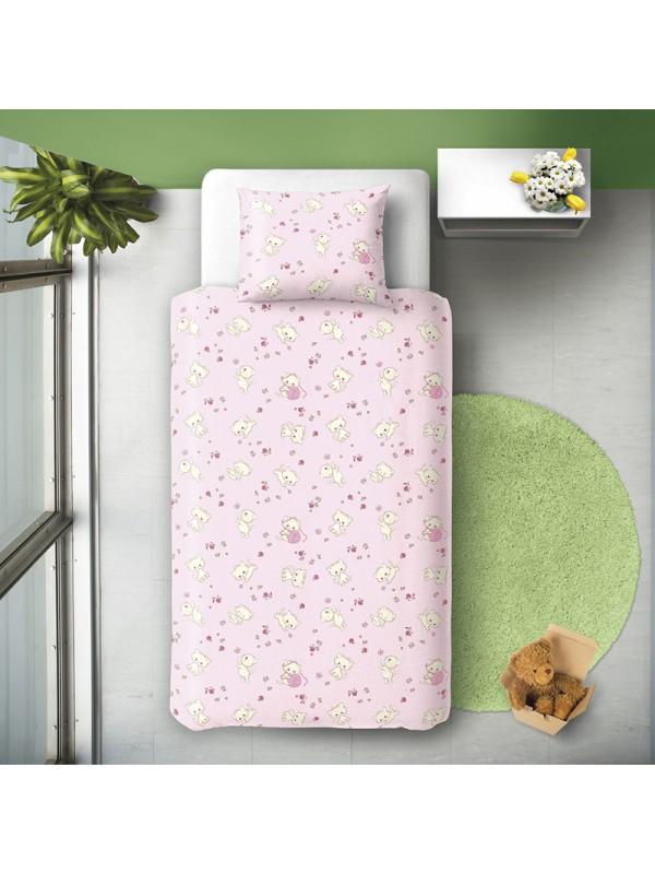 Детски Спален Комплект - Котета Розови