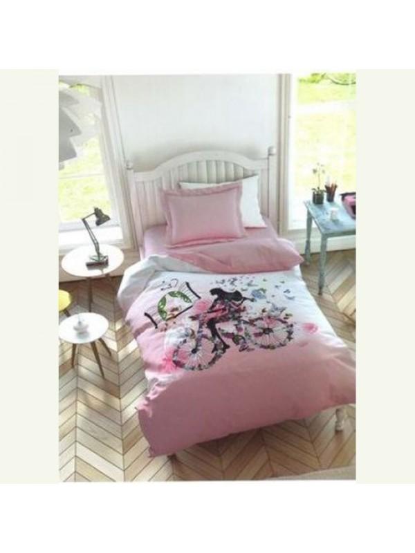 Спален Комплект за единично легло - Момичето с колелото
