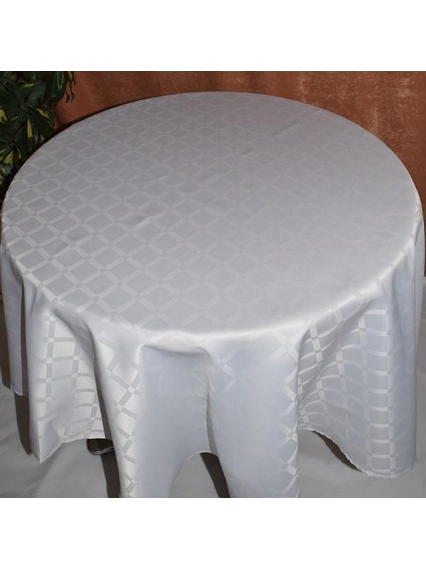 Бяла Покривка за маса от полиестер - 01