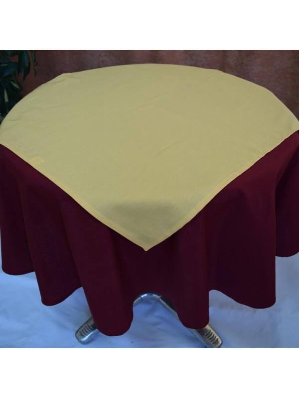 Покривка за маса - Бордо с Каре