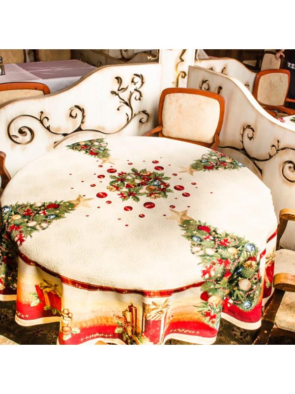 Коледна Покривка за Маса - Коледен Блясък