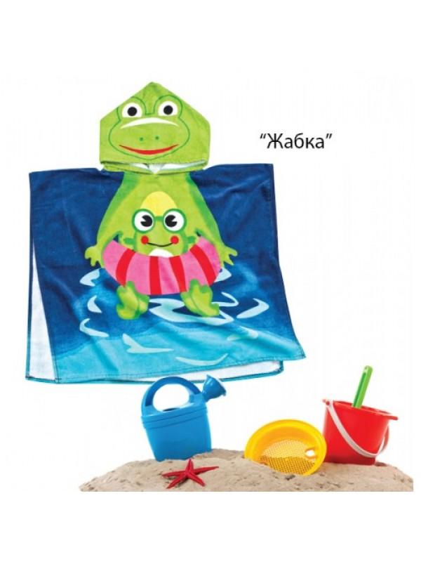 Детско Плажно пончо - Жабка