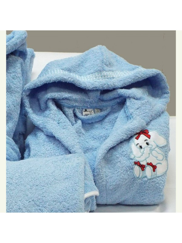 Светло Син детски халат за баня