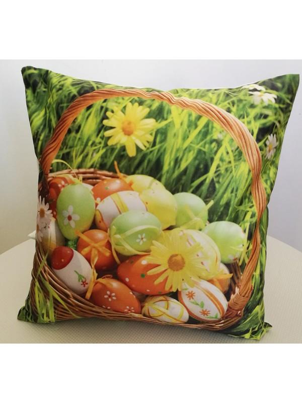 Великденска Калъфка за Възглавница - Яйца в кошница