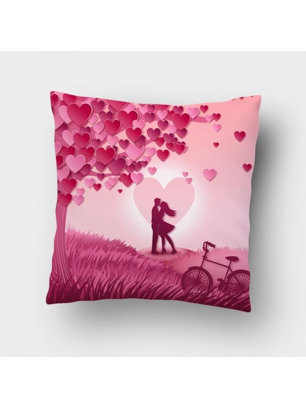 Декоративна калъфка - Влюбена двойка