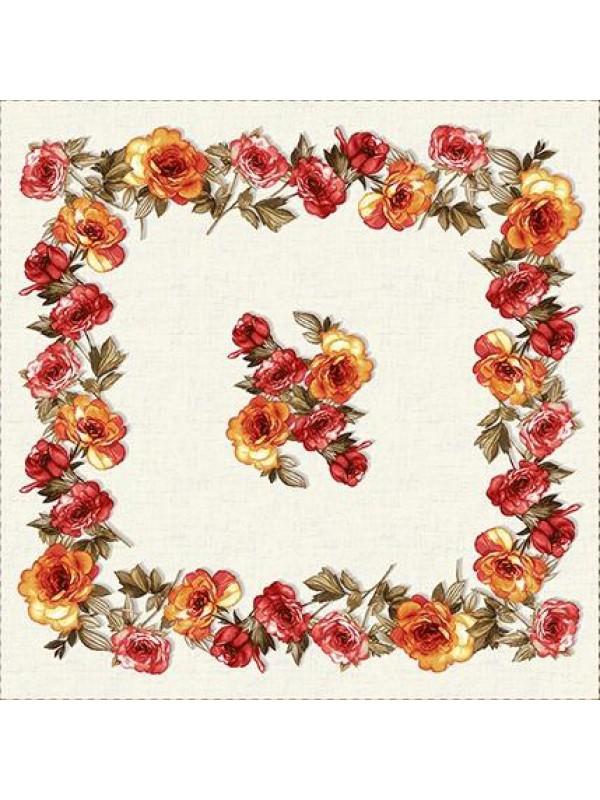Каре за маса - Цветя