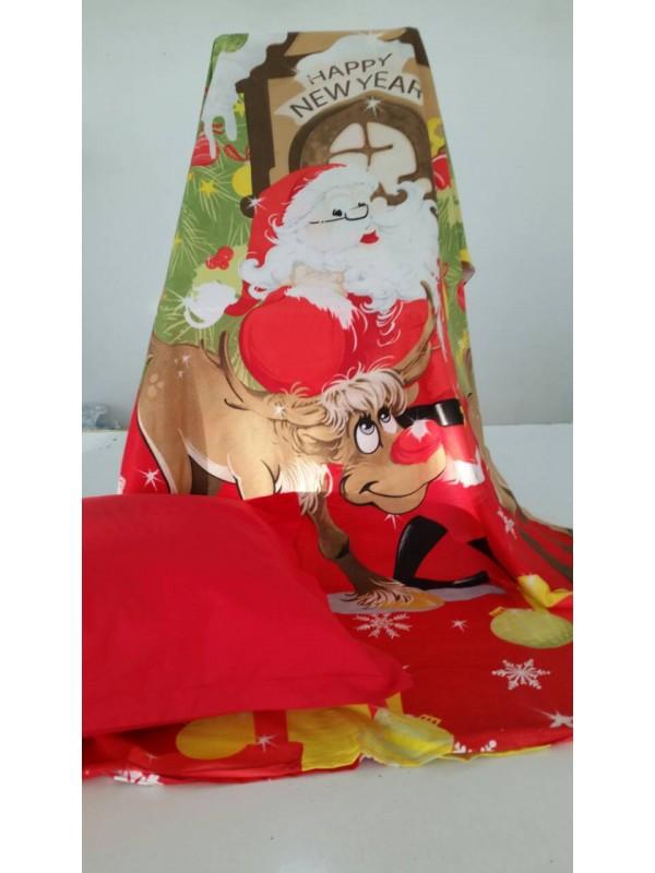 Коледен спален комплект с Дядо Коледа