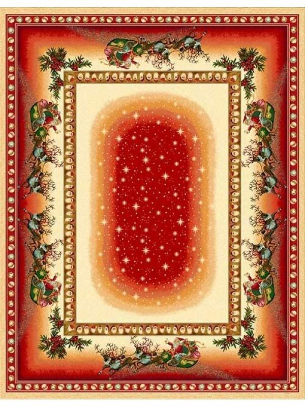 Коледна Покривка Дядо Коледа Червен Кант