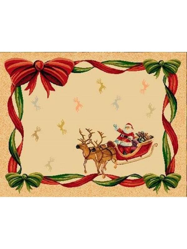 Коледна Салфетка - Дядо Коледа шейна/панделки/