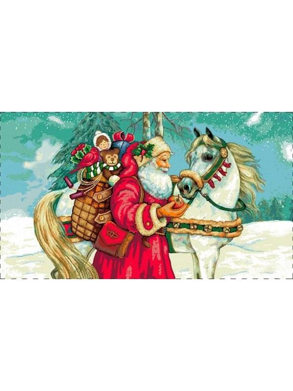 Коледна калъфка за възглавница - Дядо Коледа и Приятели