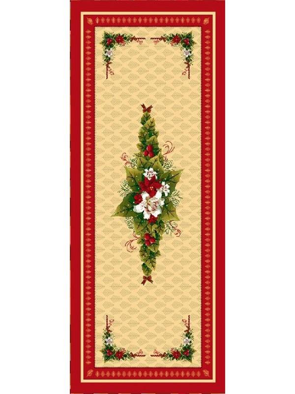 Коледен Тишлайфер за маса - Коледна Звезда Червен Кант