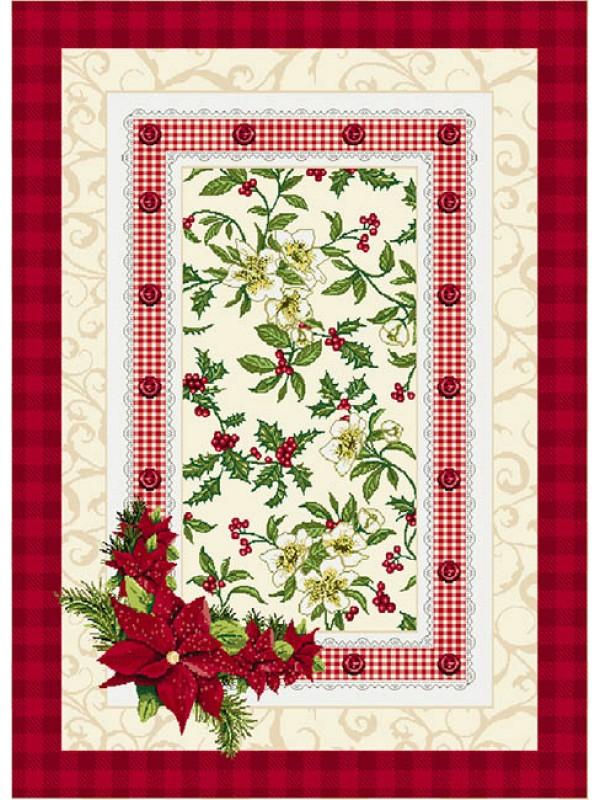 Коледен Тишлайфер - Коледна Украса Червен Кант