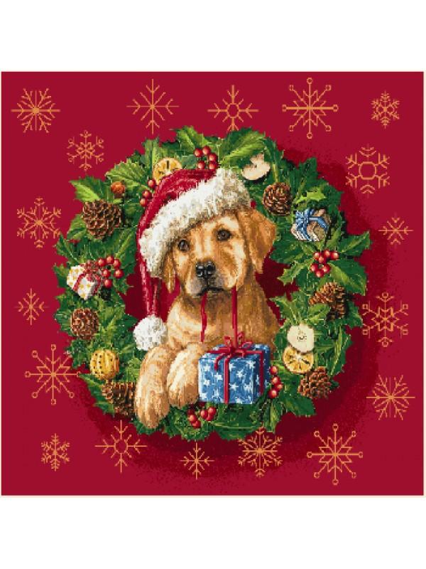 Коледна калъфка - Кученце