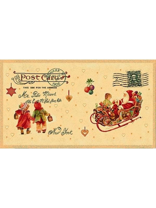 Коледна калъфка за възглавница - Коледна Картичка