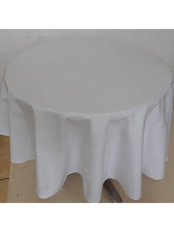 Луксозна Покривка в Бяло - 100% Памук