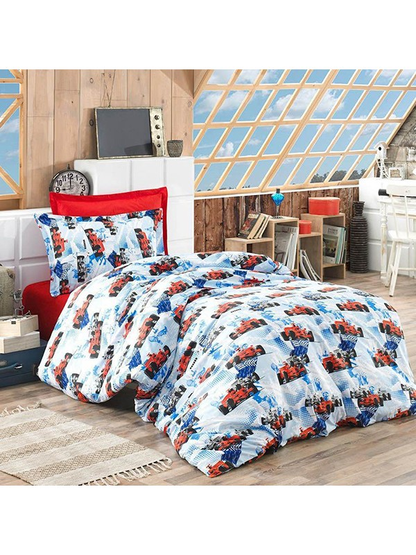 Детски Спален Комплект - Формула 1 в Синьо