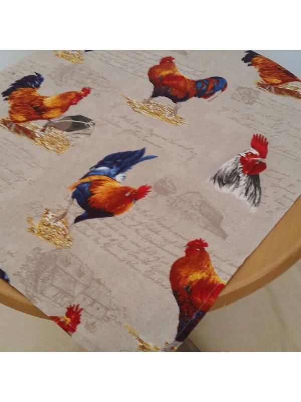 Великденско каре за маса - Петел и кокошка