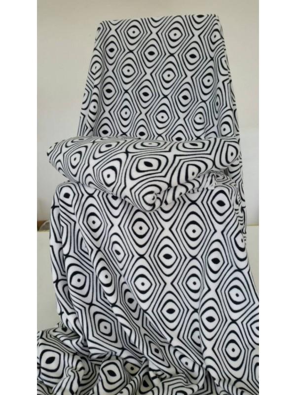 Поларено одеяло в Бяло и Черно 2бр.