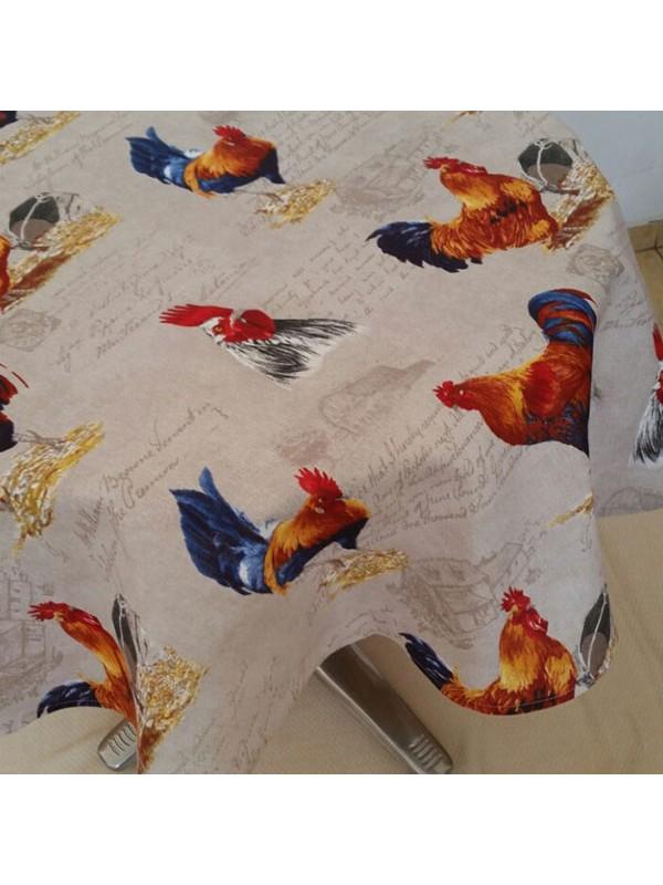 Великденска покривка за маса - Петел и кокошка