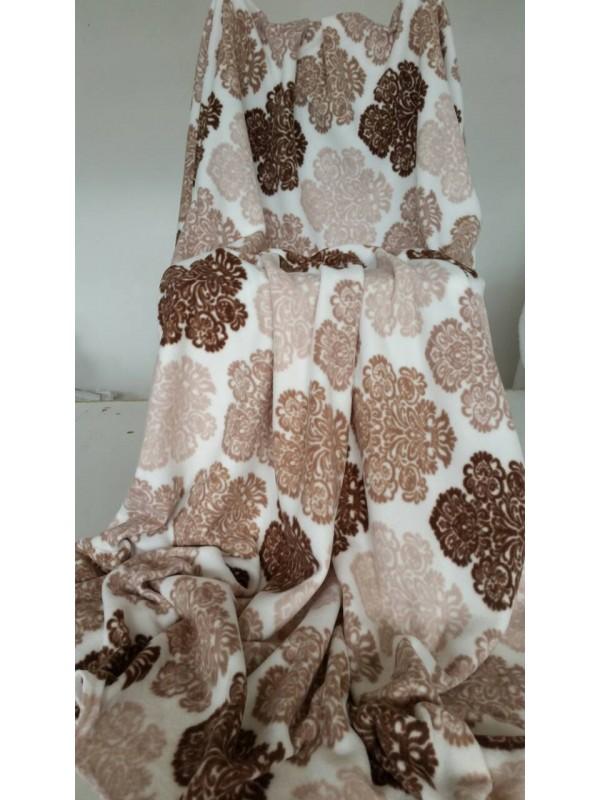 Поларено одеяло в Кафеви и Бежови Фигури