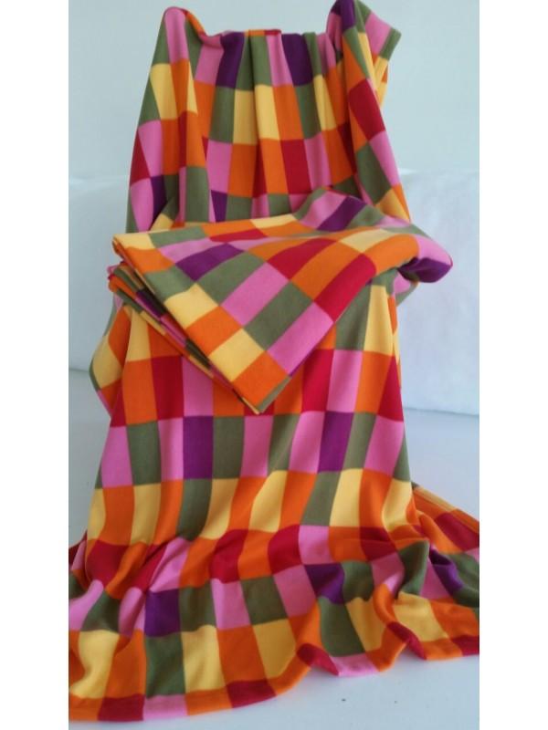 Поларено одеяло Цветно 2бр.