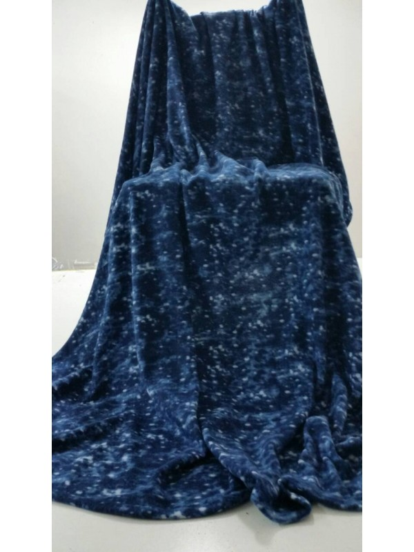 Поларено Одеяло Тъмно Синьо 2 бр.