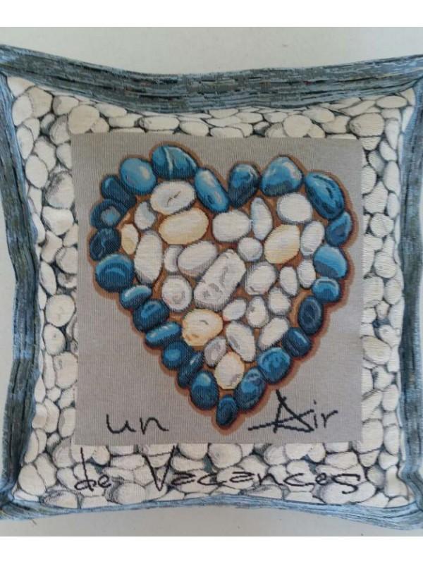 Жакардова Декоративна калъфка - Сърце от Камък